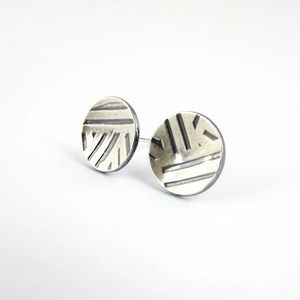 Sterling Button Studs - Oddbox Studio
