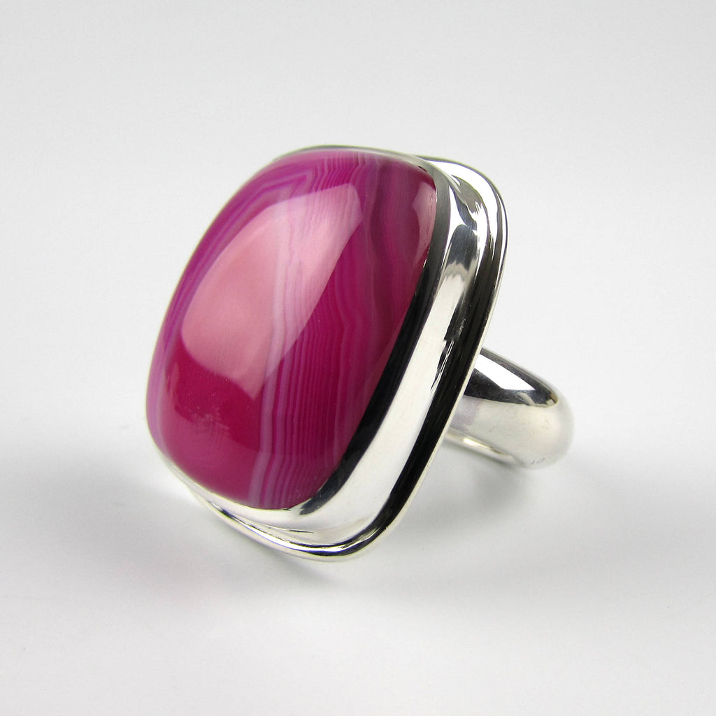 Chunky Pink Cocktail Ring - Oddbox Studio