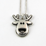 Sterling silver reindeer Christmas necklace