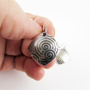 Spiral Pattern Sterling Earrings - Oddbox Studio