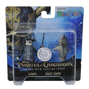 Pirates of the Caribbean Minimates Dead Men Tell No Tales Toys R Us Exclusive Lesaro & Ghost Shark 2-Pack - GogoBricks