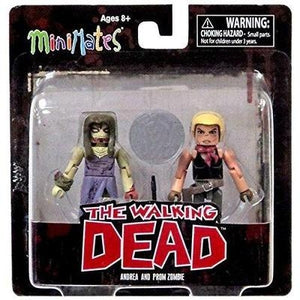 The Walking Dead Comic Book Minimates Series 7 Andrea and Prom Zombie Exclusive Minifigure 2-Pack - GogoBricks