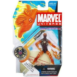 Marvel Universe 3 3/4 Series 1 Action Figure Human Torch In Flames - GogoBricks