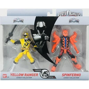 Power Rangers BANDAI Legacy Collection (YELLOW & SPINFERNO) - GogoBricks