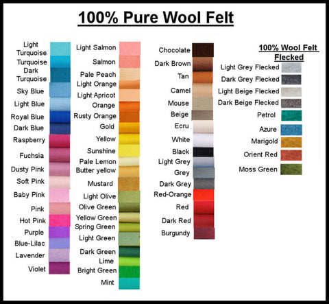 Listing for Janice- 100% Pure Wool Felt