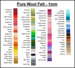 listing for Kirsty- 100% Pure Wool Felt