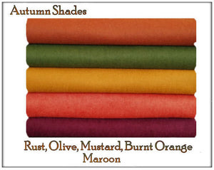 Felt Chemical Free - 10 squares - Autumn Fall Shades