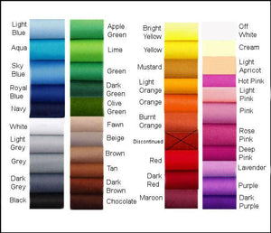 Felt Chemical Free - Choose your own colours - 100 x 180cm