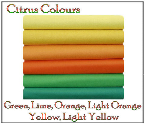 Felt Chemical Free - 12 squares - Citrus Shades