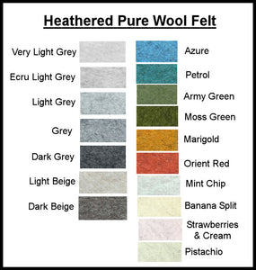 Listing for Lucy only please - Heathered Felt Australian Merino Wool