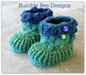 Crocodile Stitch Baby Booties That Stay On - Baby Slippers - Baby Booties - New Baby Gift - rainbow - 6-12 months