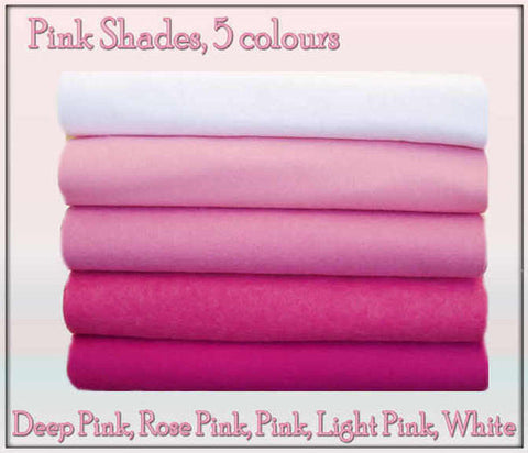 Felt Chemical Free - 10 squares - Pink Shades