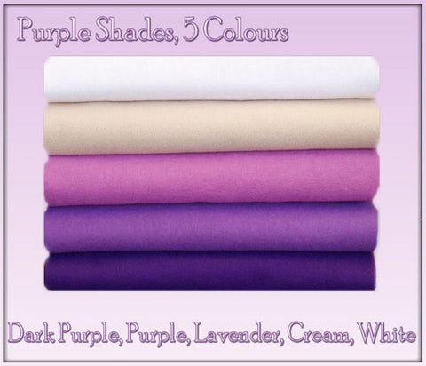 Felt Chemical Free - 10 squares - Purple Shades
