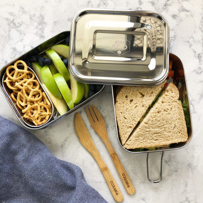 Ever Eco - Stainless Steel Lunch Bento Box 3 Compartments