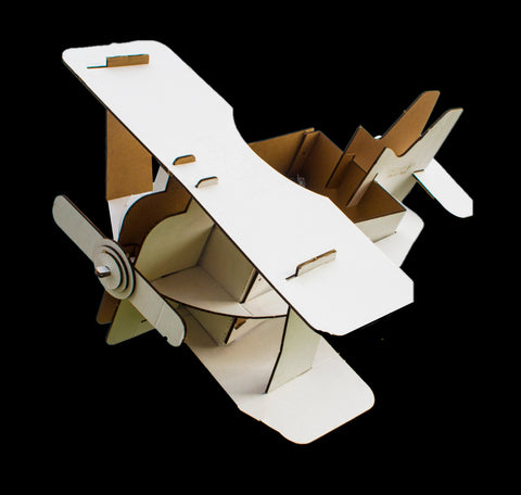 Bi Plane- Designer Cardboard GIANT Air plane (Carry your plane around)