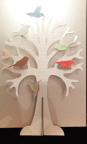 Cardboard Tree with birds