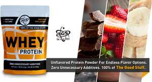 TGS unflavored protein powder for endless flavor options.