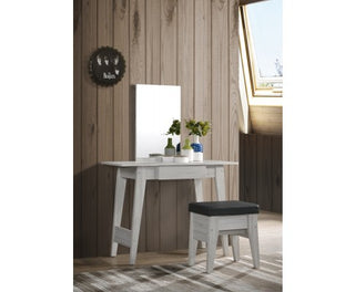 Dressing Table With Stool - White Oak