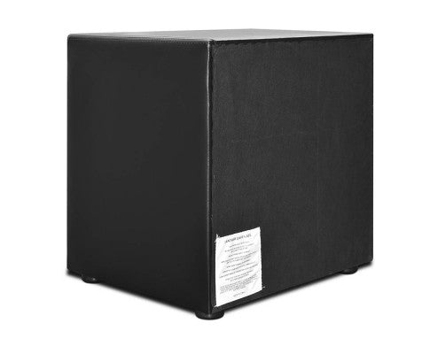 Deluxe PU Leather Bedside Table - Black