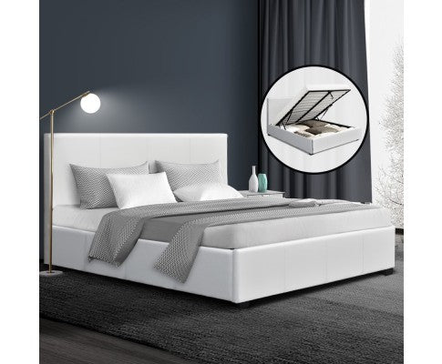 Chelsea Gas Lift Collection Bed Frame - White