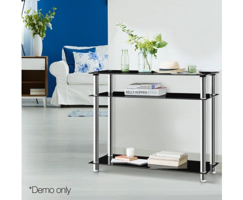 Entry Hall Console Table - Black & Silver
