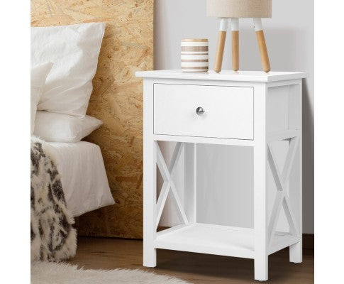 Timber Bedside Side Table