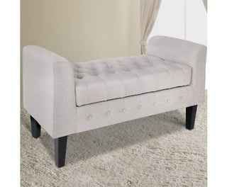 Multi-Functional Storage Ottoman - Light Grey