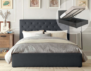 Brooklyn Gas Lift Collection Bed Frame - Charcoal