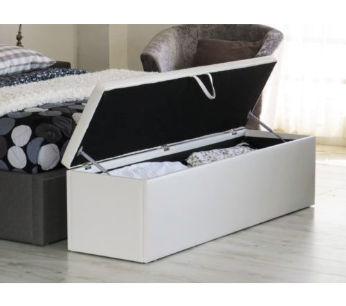 Extra Large Storage / Toy Box / Ottoman - White