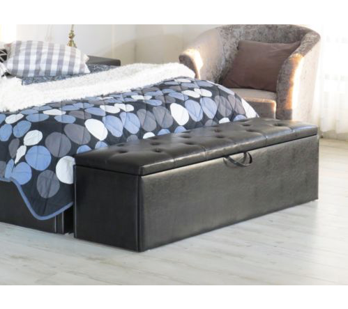 Extra Large Storage / Toy Box / Ottoman - Black