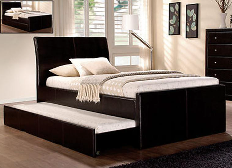Charlie Collection Bed Frame w/ Trundle - Black