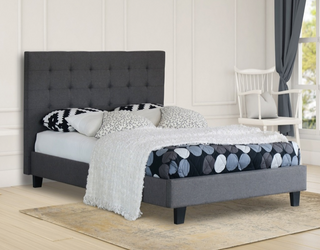 Ally Collection Bed Frame - Grey