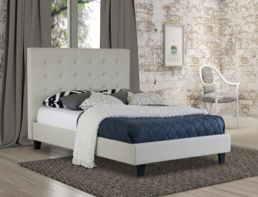 Ally Collection Bed Frame - Beige