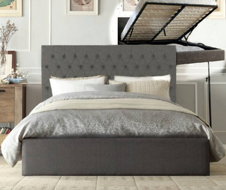 Harvey Gas Lift Collection Bed Frame - Grey