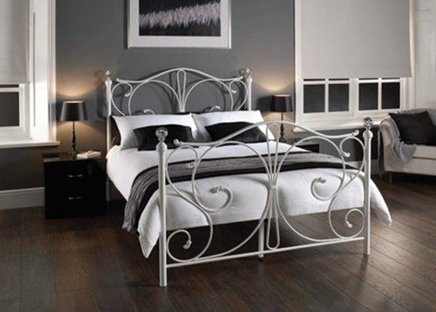 Riviera Collection Bed Frame - White