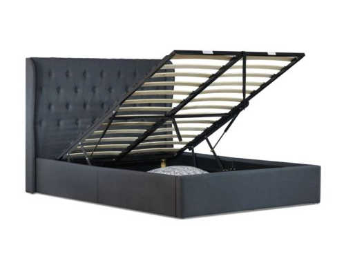 Buckley Gas Lift Collection Bed Frame - Charcoal
