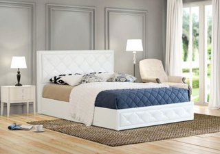 Cornish Gas Lift Collection Bed Frame - White