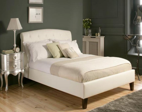 La Rochelle Collection Bed Frame - White / Beige