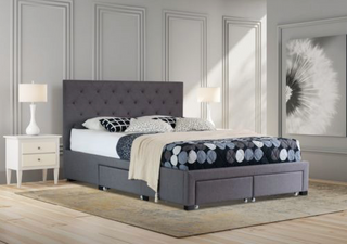 Brooklyn Storage Drawer Collection Bed Frame - Grey