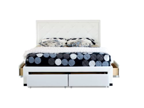 Cornish Storage Drawer Collection Bed Frame - White