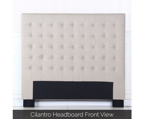 Cilantro Collection Bed Head Headboard - Beige