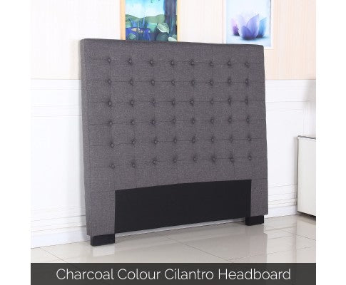 Cilantro Collection Bed Head Headboard - Charcoal