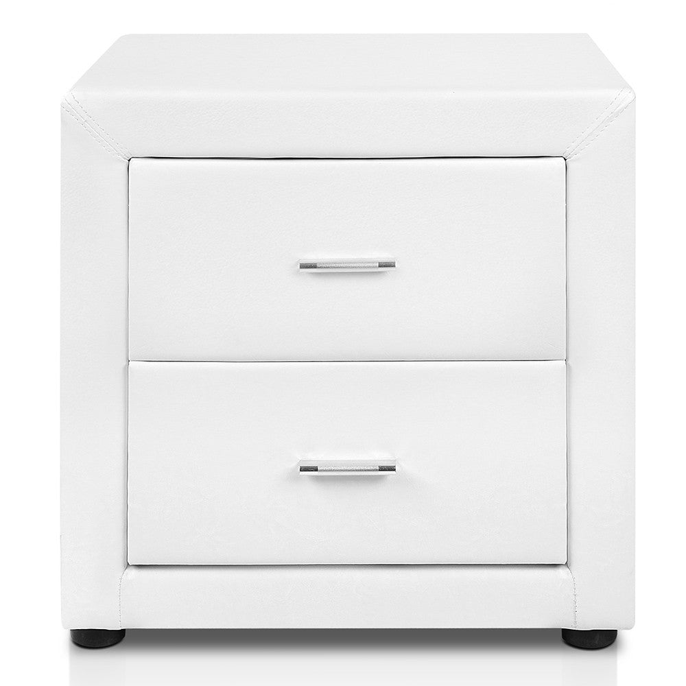 Deluxe pu leather bedside table white discount house australia deluxe pu leather bedside table white watchthetrailerfo
