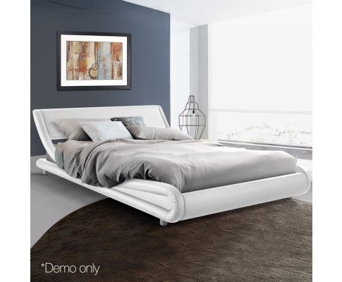 Barcelona Collection Bed Frame - White