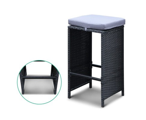 5-Piece Outdoor Bar Table and Stools Set