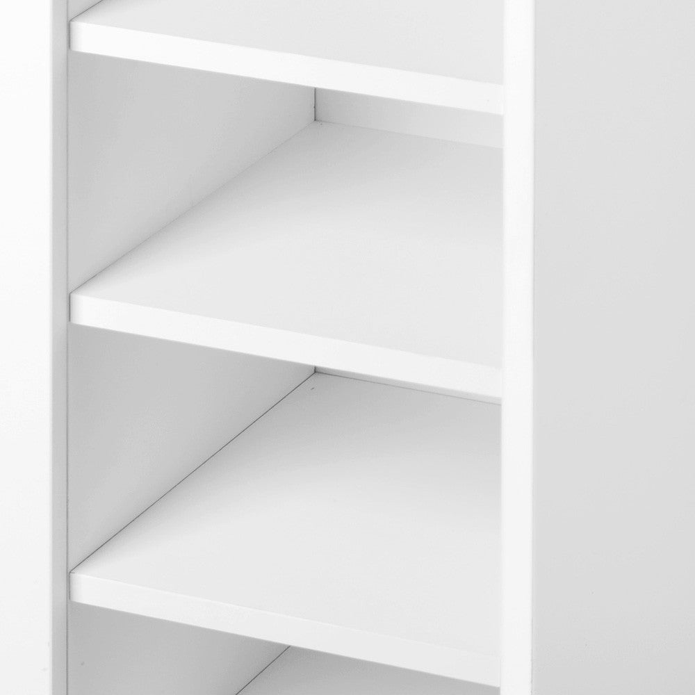 2 Doors Shoe Cabinet Storage Cupboard - White
