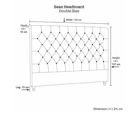 Sean Collection Bed Head Headboard - Grey