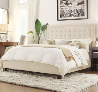 Janis Collection Bed Frame - Beige