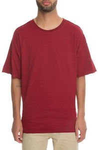 Oversized Dropshoulder Box Tee (Burgundy)