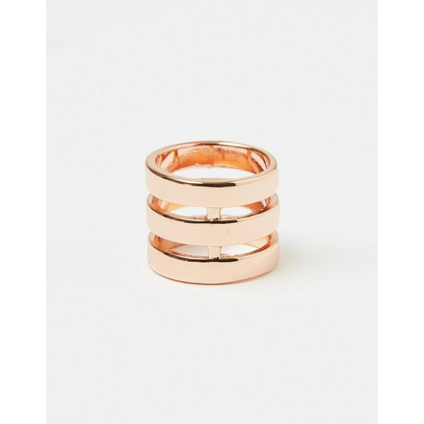 Izoa Three Line Ring Rose Gold